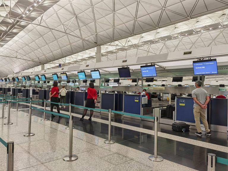 Cathay Pacific counter Hong Kong