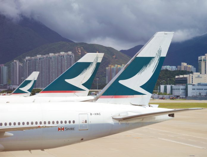 Cathay Pacific aircraft tails