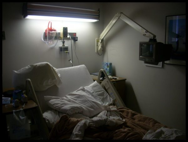 This image has an empty alt attribute; its file name is Hospital-bed-600x454.jpg