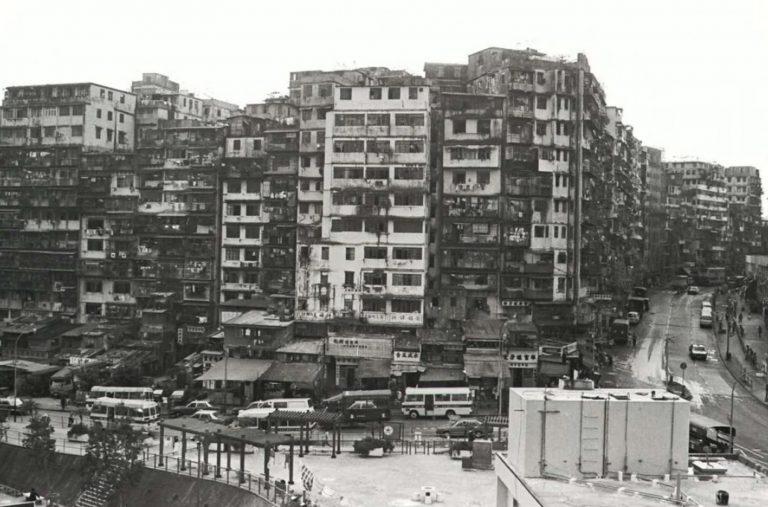 The Kowloon Walled City in Hong Kong.