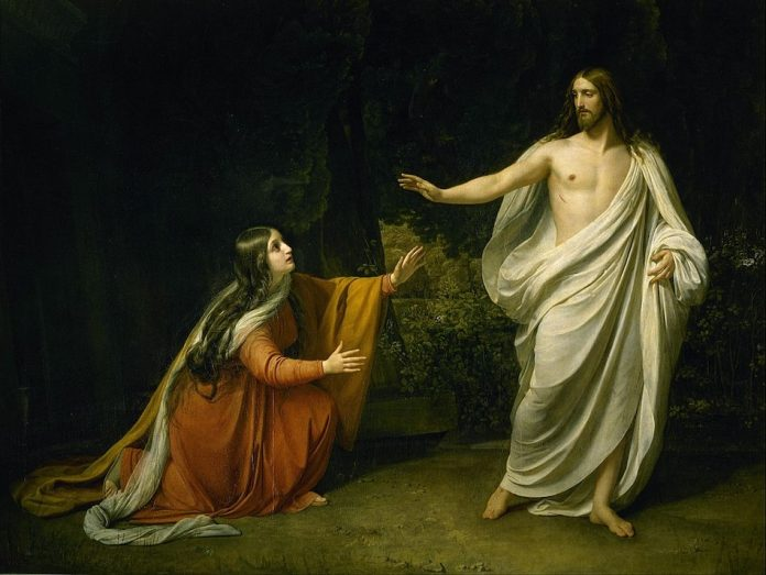 Alexander Andreyevich Ivanov painting. Christ's Appearance to Mary Magdalene after the Resurrection.