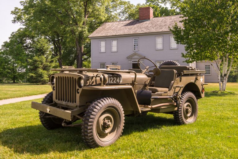 British made Willys MB jeep