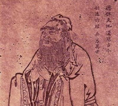 Tang Dynasty painting of Confucius - the most well-known Ancient Chinese philosopher.
