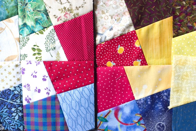 A colorful quilt.