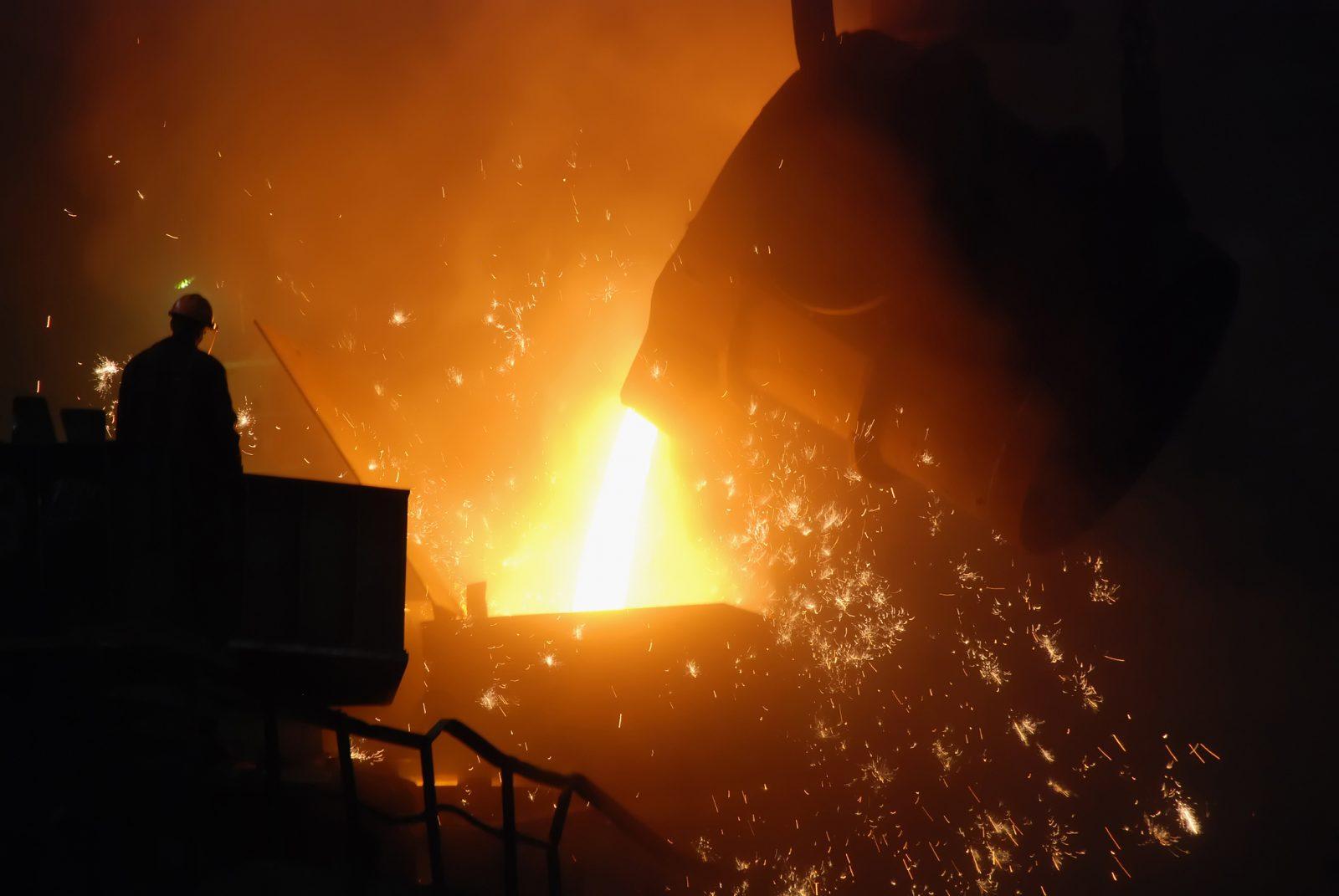steel smelting factory