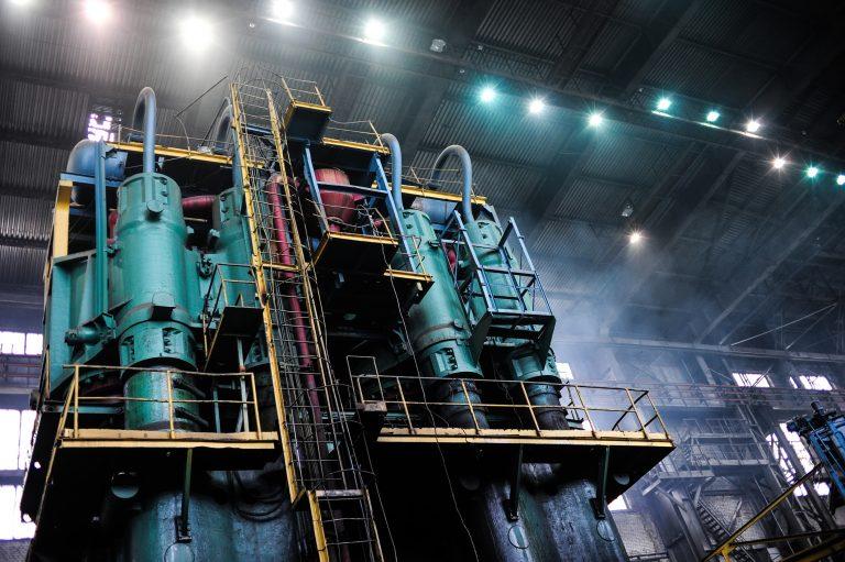 An aluminum smelting plant.