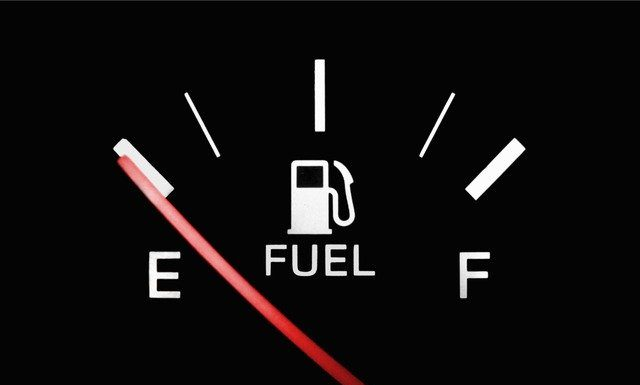 Fuel indicator, on empty, like the faith-tank of many entrepreneurs looking for success.