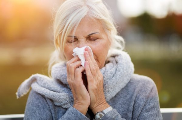 Many people suffer from sinusitis and use a medicated nasal spray from the chemist for relief.