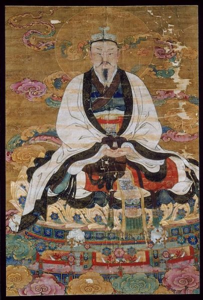 The Jade Emperor, painted during the Ming Dynasty.