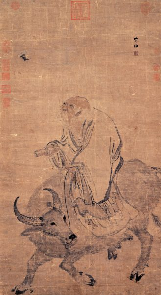 Ming Dynasty painting of Laozi riding an ox