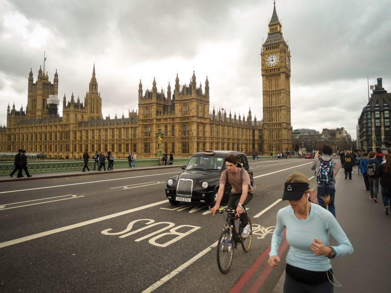 London bicyclist