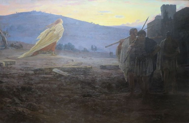 """Heralds of the Resurrection"" painting by Nikolay Ghe 1867"
