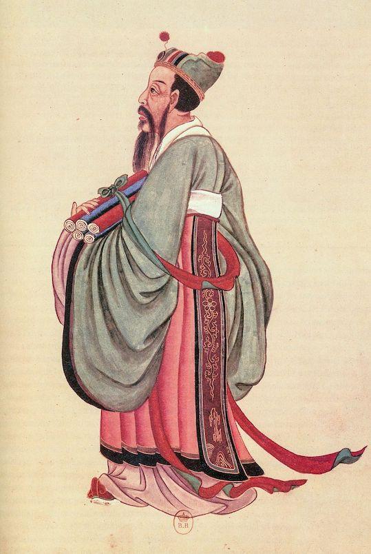 18th century portrait painting of chinese philosopher confucius