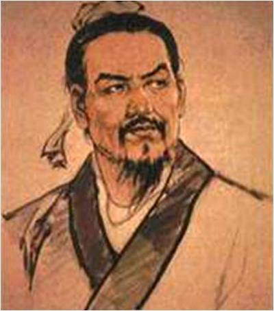 Portrait of Chinese Philosopher Han Fei also known as Han Fei Zi