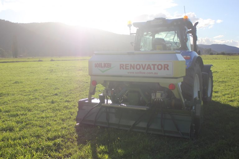 The SoilKee Renevator in a farm the field
