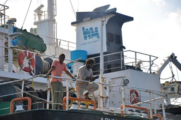 Crew on a cargo ship can originate from many different countries, with varying vaccination status, making mandates a problem