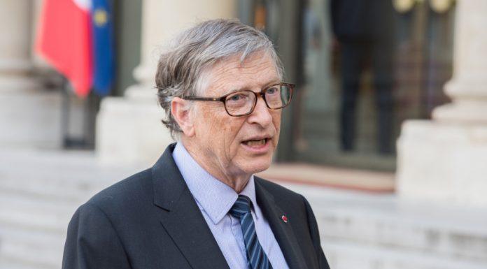 Bill Gates at the Elysee Palace in France.