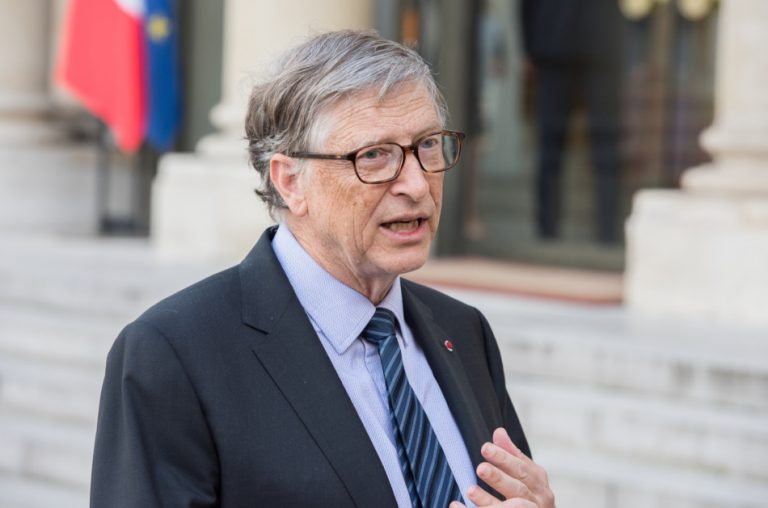 Bill Gates at the Elysee Palace in France.