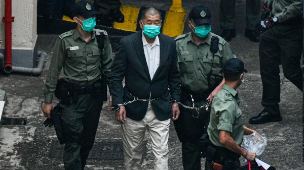 HK billionaire and pro democracy veteran Jimmy Lai sentenced