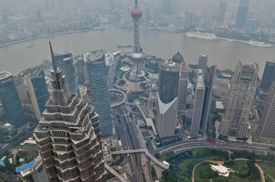 Skyscrapers in Shanghai.