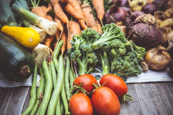 a mix of vegetables from a market