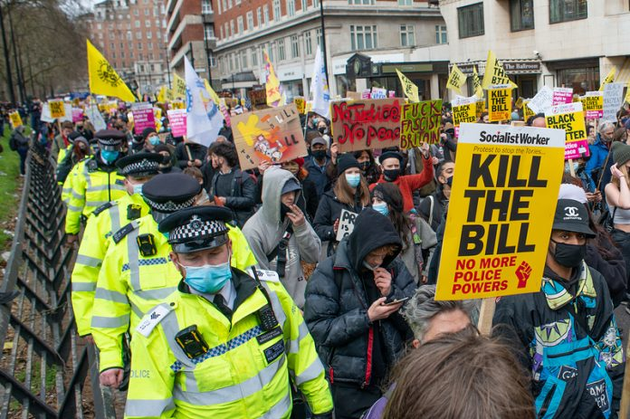 Proposed UK Police Bill raises strong public concerns.