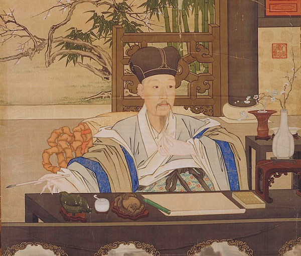 Chinese-style painting of Emperor Qianlong.