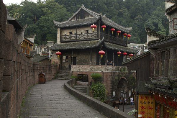 stone castle in fenghuang
