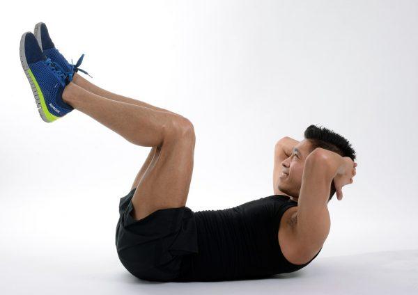 Man doing abdominal exercise