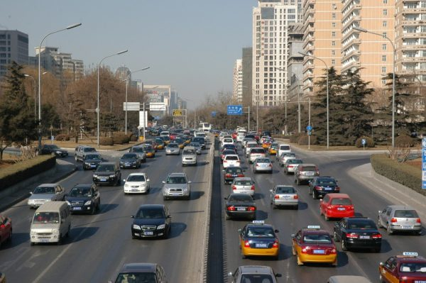 traffic in china day time