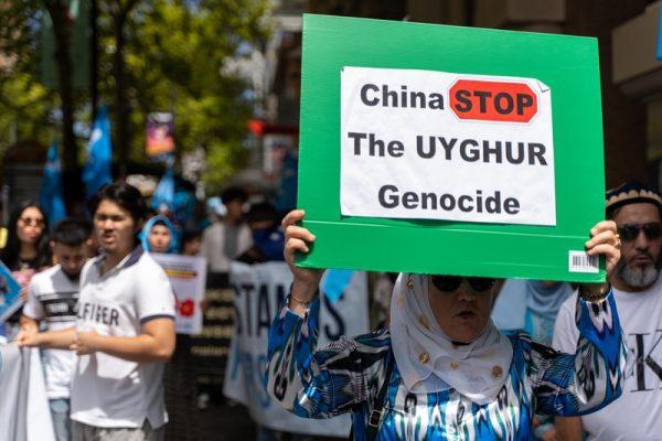 Uyghur children are held in detention camps.