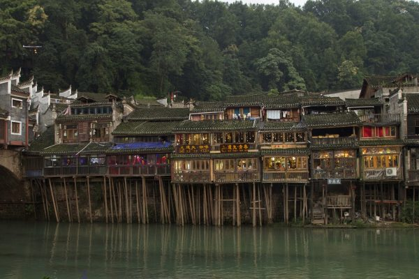 houses by river fenghuang china