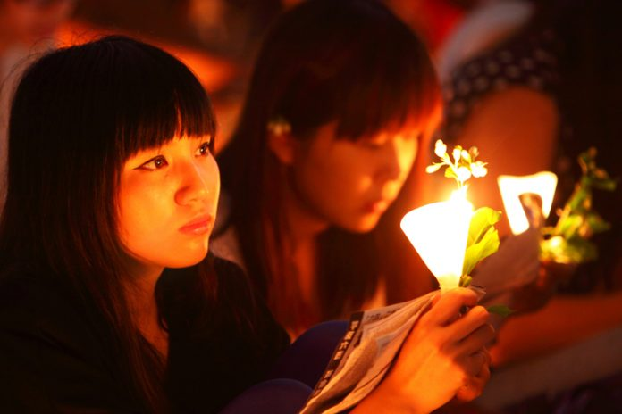 """Candlelight Vigil  - """"As Long as the Heart Does Not Die, the Candlelight Will Never Go Out"""""""