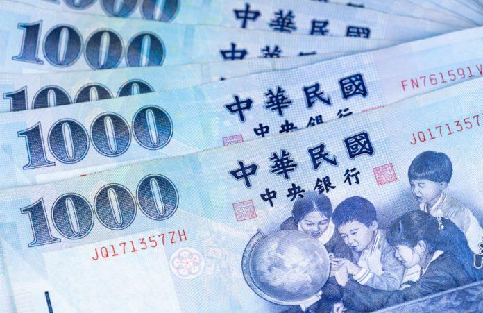 1,000 New Taiwan Dollar banknotes.