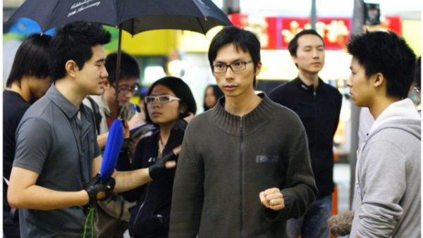 """Revolution of Out Times.  Zhou's son: """"It's better to stay in Hong Kong together and turn Hong Kong back into a beautiful Hong Kong."""""""
