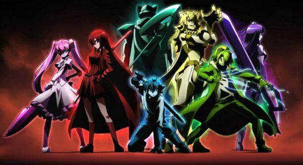 The Night Raid from 'Akame Ga Kill' wielding their Imperial Arms.