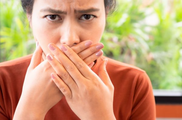 One of the symptoms of dehydration is bad breath.