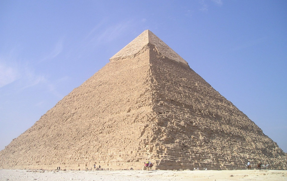 The Great Pyramid of Giza in Egypt.