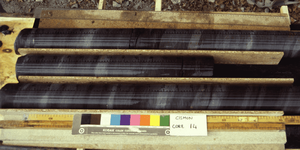 Core samples for Oceanic Anoxic Event 1a. A new study from the University of British Columbia and the University of Hong Kong indicates volcanism drove rapid ocean deoxygenation during the time of the dinosaurs.