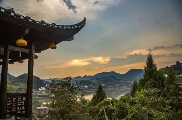 Sunset at Chenyang Village, China.