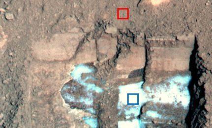 Martian s now is dusty.