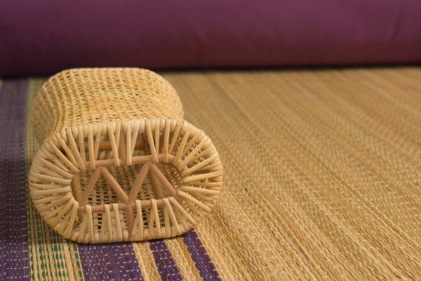 Bamboo weave pillow.
