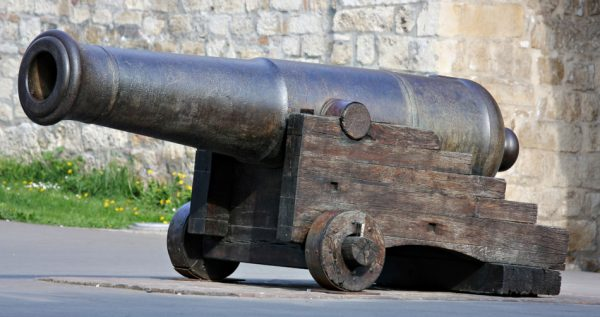 Old canon at a fortress.