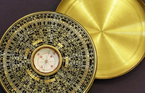 Old vintage chinese compass used in feng shui.