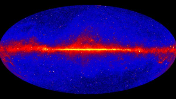 A detailed view of the gamma rays in the sky.