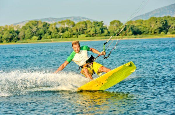 Enjoy the healing power of the sun while kiteboarding.