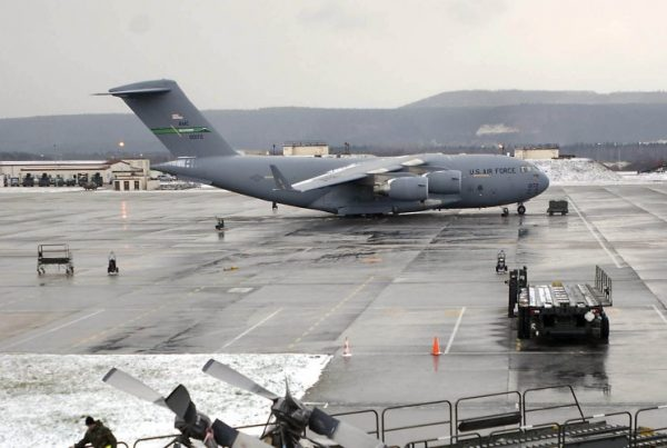 C-17 Globemaster III at Ramstein Air Base, Germany.