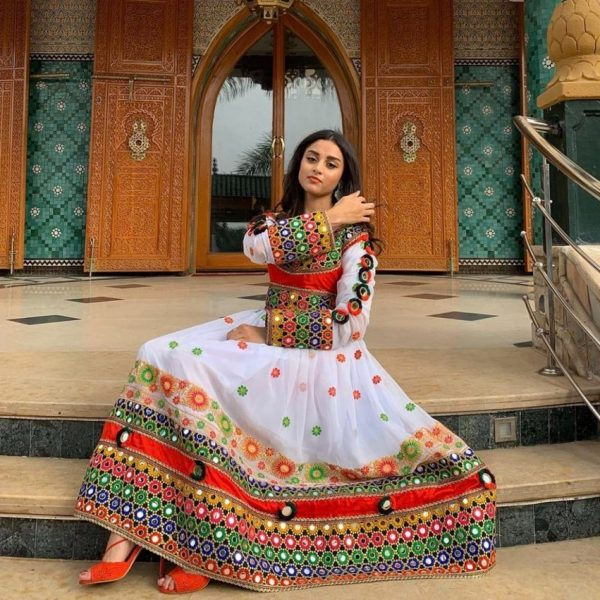Afghan women shared a wide variety of boldly colorful and intricately decorated outfits to Twitter.